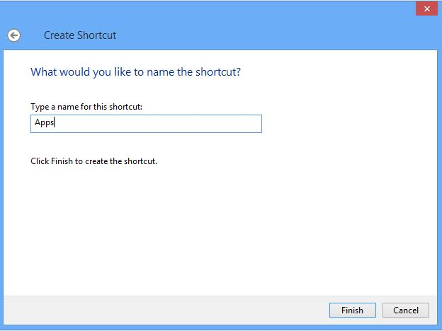 Create Shortcut Name