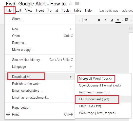 Download As PDF or Word