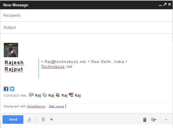 Gmail Email Signature