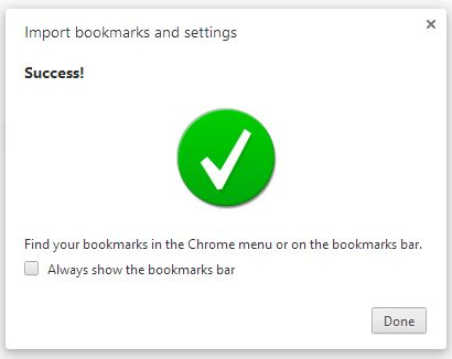 Import Firefox Bookmarks