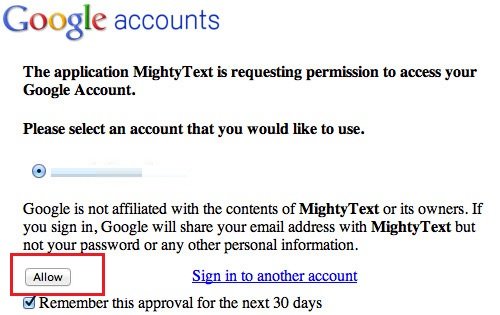 Mightytext Google Connect
