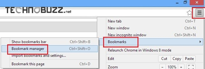 Google Chrome Bookmarks Manager