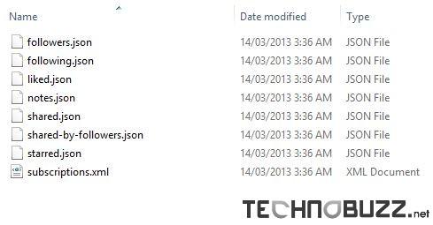 Google Reader Backup Files