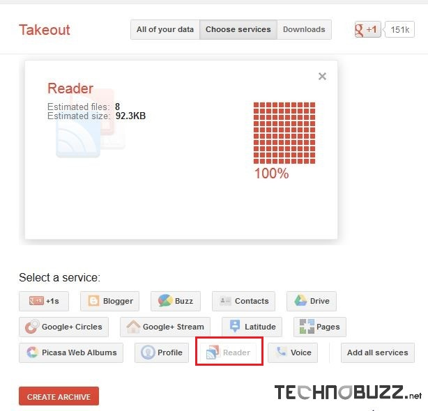 Google Takeout Services