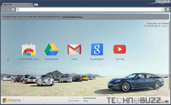 Porsche Google Chrome Theme