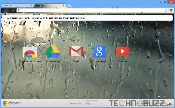 Raindrops Google Chrome Theme