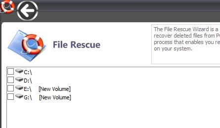 Select Media To restore Deleted Files