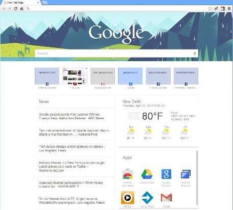 Google Now on Google Chrome