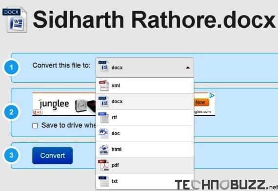 Select Convert Type