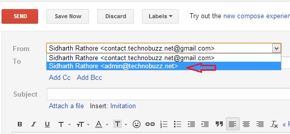 Use Professional Email id to Send Email From Gmail