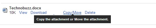 Copy and Move Attachment