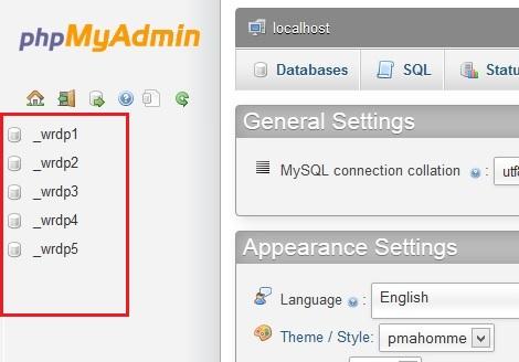 Select WordPress Database