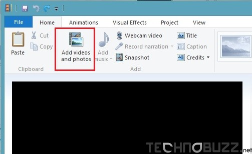 Add Videos and Photos on Windows Movie Maker