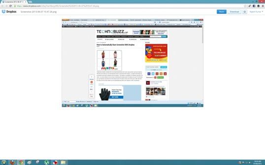 Dropbox ScreenShot Share Link