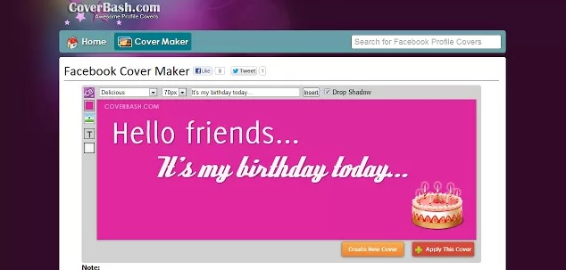 Facebook Cover Maker Google Chrome Addon