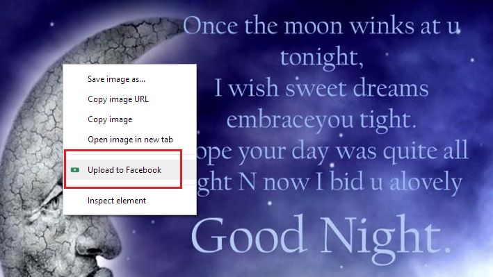 Facebook Photo Uploader Google Chrome Addon
