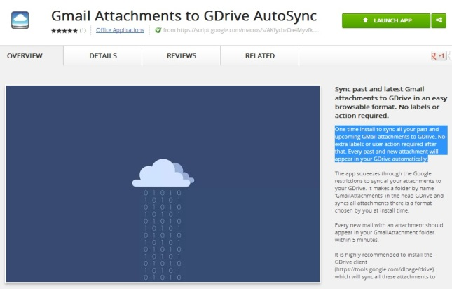 Gmail Attachments to GDrive AutoSync