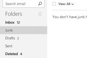 Outlook.com Email Folders