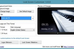 Windows 8 Lock Screen Customizer
