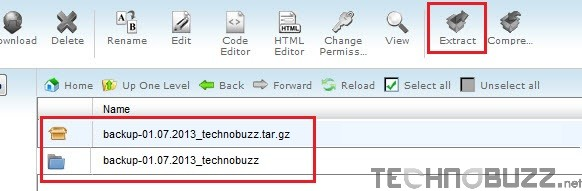Backup Folder on New Server