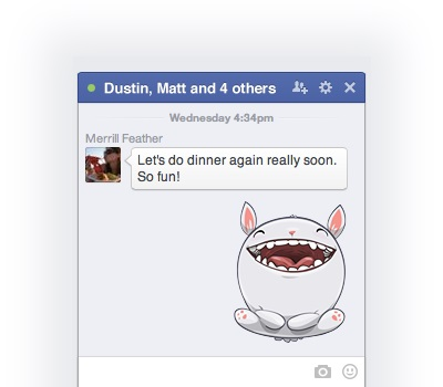 Send Facebook Stickers