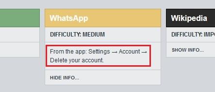 Delete Your Web accounts