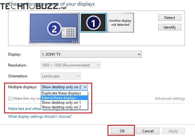 Extend Windows 8 Display