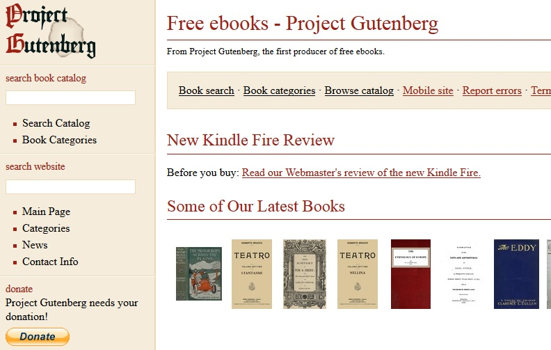 Project Gutenberg Download Free Ebooks