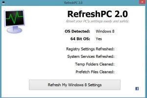 Refresh Windows 8 Settings