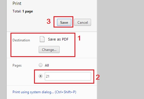 Save Page As PDF