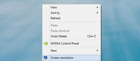Windows 8 Screen Resolution