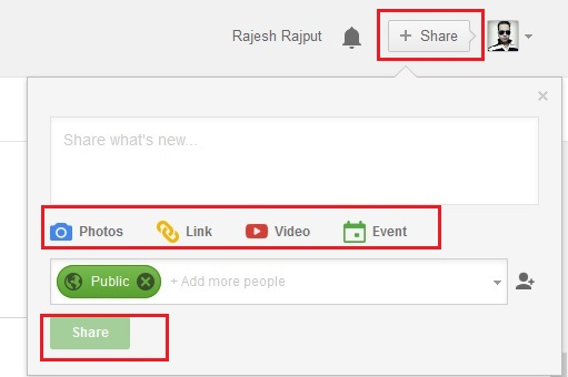 Add Post on Google Plus