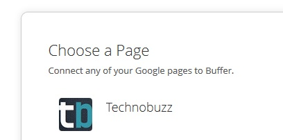 Choose a Google Plus Page