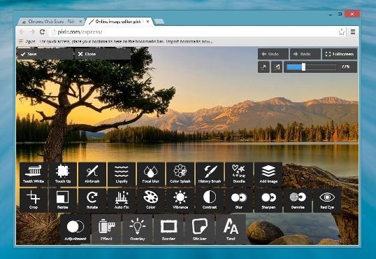Pixlr Touch Up Chrome App