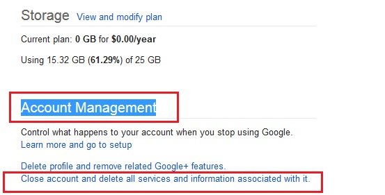 Google Account Management