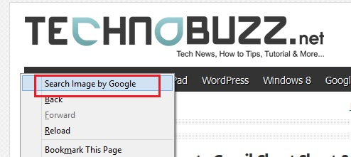 How to Apply Google Image Search Feature in Firefox Right Click Menu