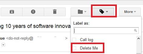 Delete Me Label