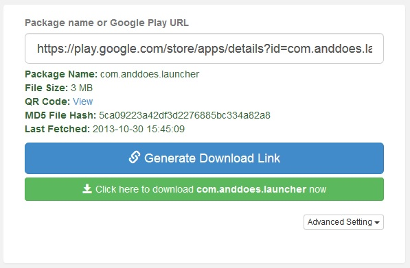 Download APK files