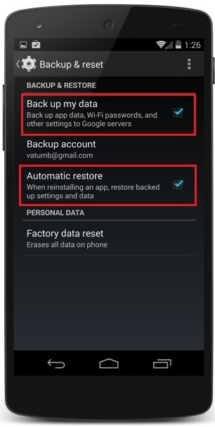Backup Android Data