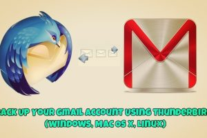 Backup Gmail Account on Thunderbird
