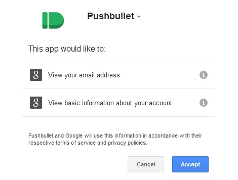 Connect Pushbullet With Your Google Account