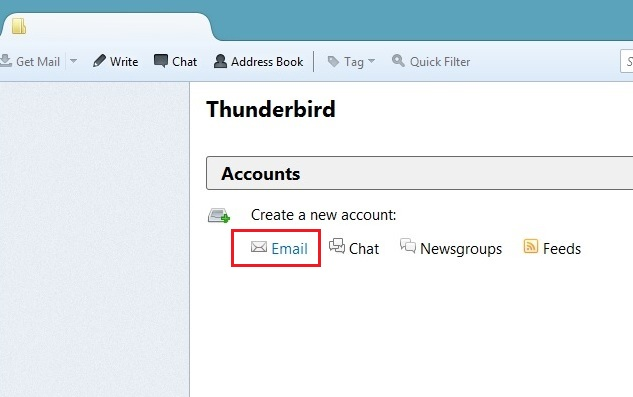Create Thunderbird Email Account