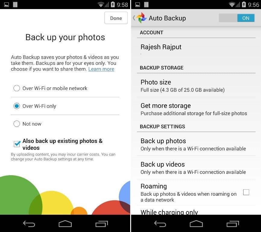 Google plus Auto Backup Images