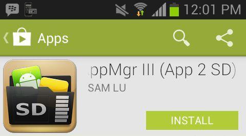 AppMgr III App 2 SD