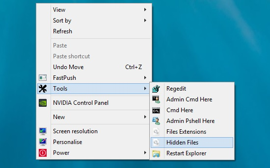 Extra Tools On Windows 8 Context Menu