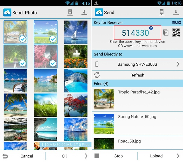 Transfer File between iPhone and android