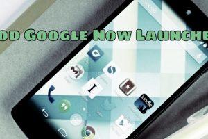 Mod Google Now Launcher