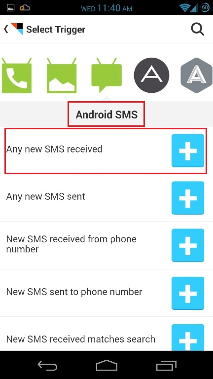 Android-SMS-trigger