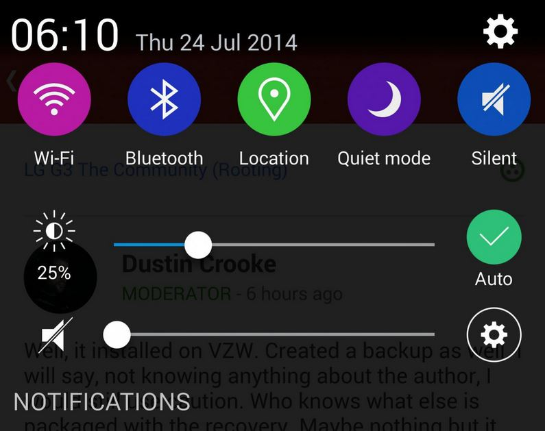 how to change text sound on lg g3