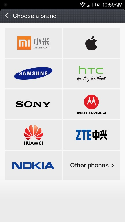 Select-Phone-Model